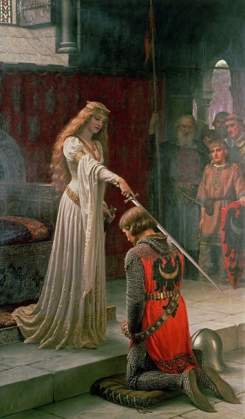 accolade_by_edmund_blair_leighton_sm